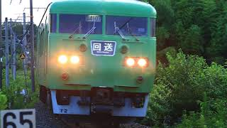 天理臨 117系京都車T2編成4連 送り込み回送 奈良線