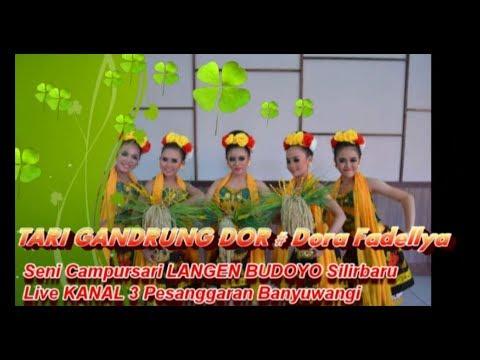 TARI GANDRUNG DOR # Dora Fadellya Live Campursari LANGEN BUDOYO Di Kanal3 Pesanggaran Banyuwangi