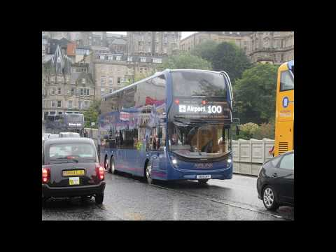 Buses And Trams At Edinburgh, Scotland (photo Video) - 27th To 29th September 2019