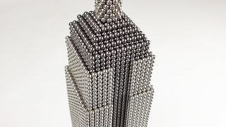 The Empire State Building made of Magnetic Balls | Magnetic Games
