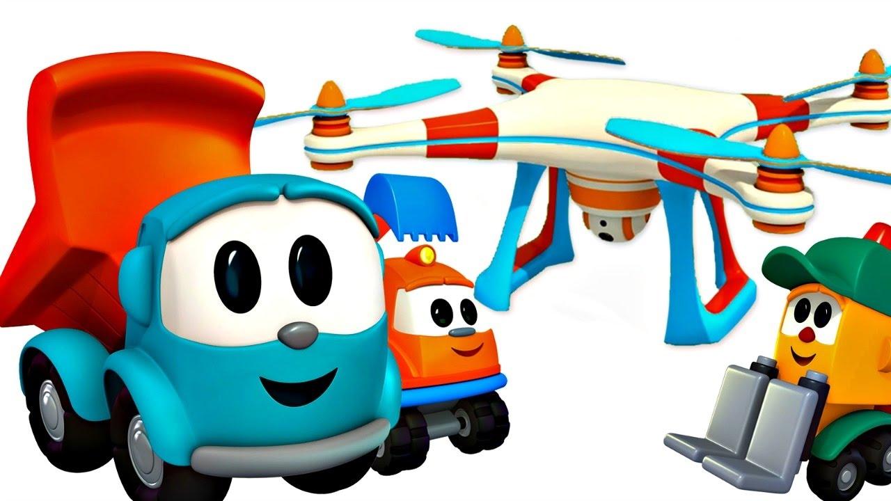 Léo Le Camion Curieux Construction D Un Drone Dessin Animé