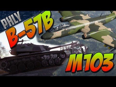 War Thunder Tank Gameplay- AMERICAN M103 Tank & B57B Jet Bomber!