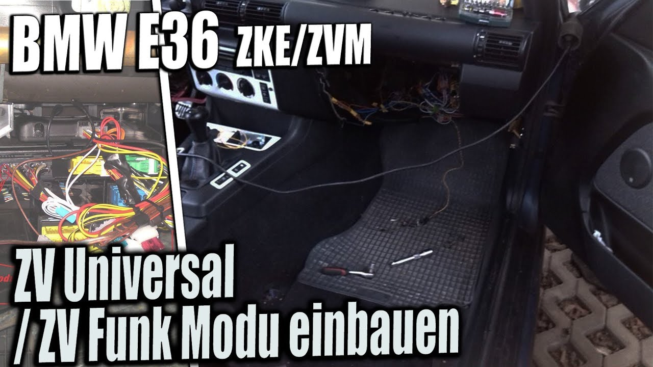 bmw e36 zke zvm zv universal zv funk modul einbauen youtube. Black Bedroom Furniture Sets. Home Design Ideas