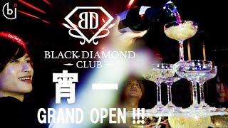 遂にシャンパンタワー 始まる!!【ホスドル.BJP】一条ヒカルプロデュース完全新規店BLACK DIAMOND CLUB