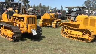 CRAWLER TRACTORS AT KINGAROY VINTAGE MACHINERY SHOW SEPTEMBER 2015