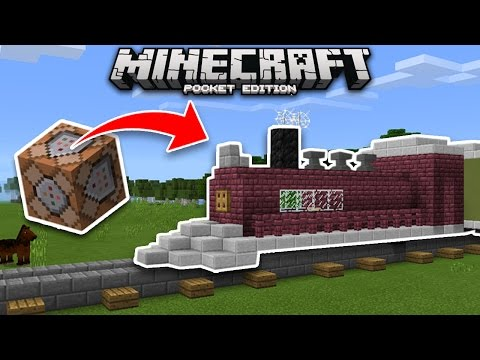 WORKING TRAIN Using COMMAND BLOCKS In Minecraft! (Pocket Edition, Xbox)
