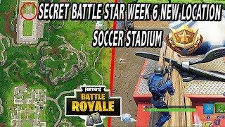 OBTENEZ LE NIVEAU GRATUIT FORTNITE WEEK 6 - New Secret Battle Star Location (SOCCER FIELD LOCATION) SEASON 4