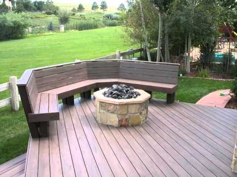 building a outdoor curved wooden benches - YouTube