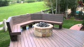 Building a outdoor curved wooden benches