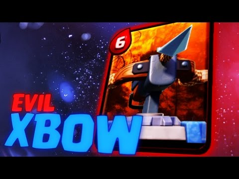 Clash Royale - EVIL XBOW SHOOTS EVERYTHING!! (Troll Gameplay)