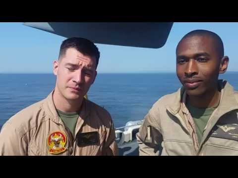 Two Marine MV-22 Osprey Pilots at #FLEETWEEKNYC