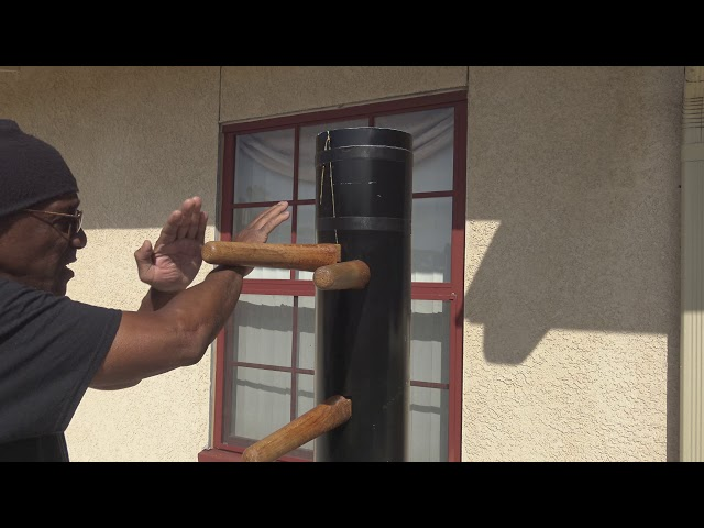 Wing Chun Pak Sao Cheun Sao on  Wooden Dummy