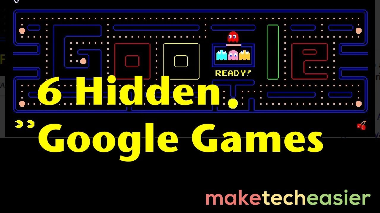 6 Hidden Google Games You Can Play When You Are Bored