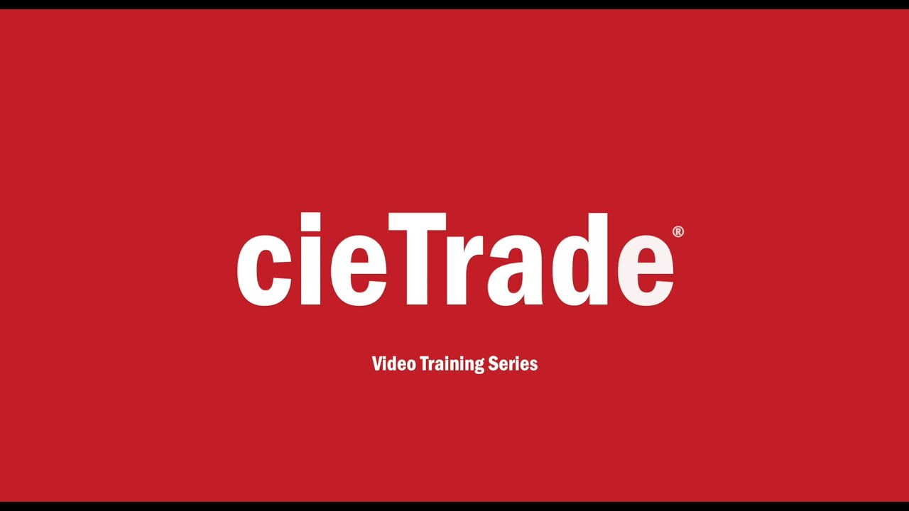 How To Handle Sales Reps in cieTrade System
