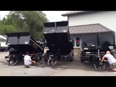 Sure Trac Hydraulic Dump Trailer Hoist Comparison Heavy Duty LP Telescopic, Scissor, Dual Ram