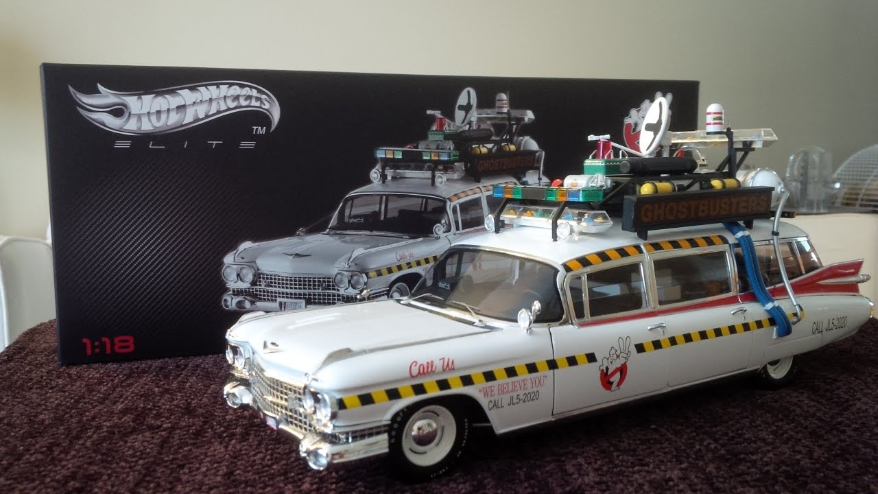 hot wheels elite ghostbusters 2 ecto 1a 1 18 scale youtube. Black Bedroom Furniture Sets. Home Design Ideas