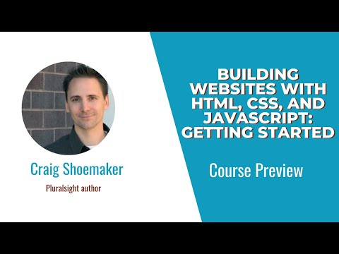 Building Websites With HTML, CSS, And JavaScript: Getting Started Course Preview
