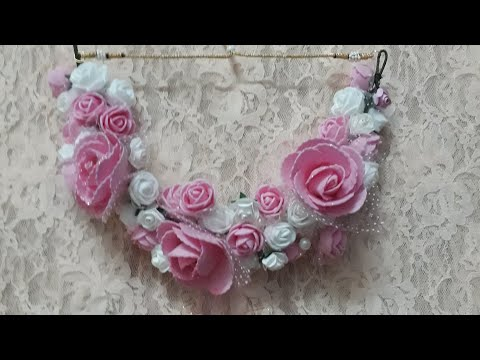 D.i.y how to make handmade artificial flowers flower jewellery 2018