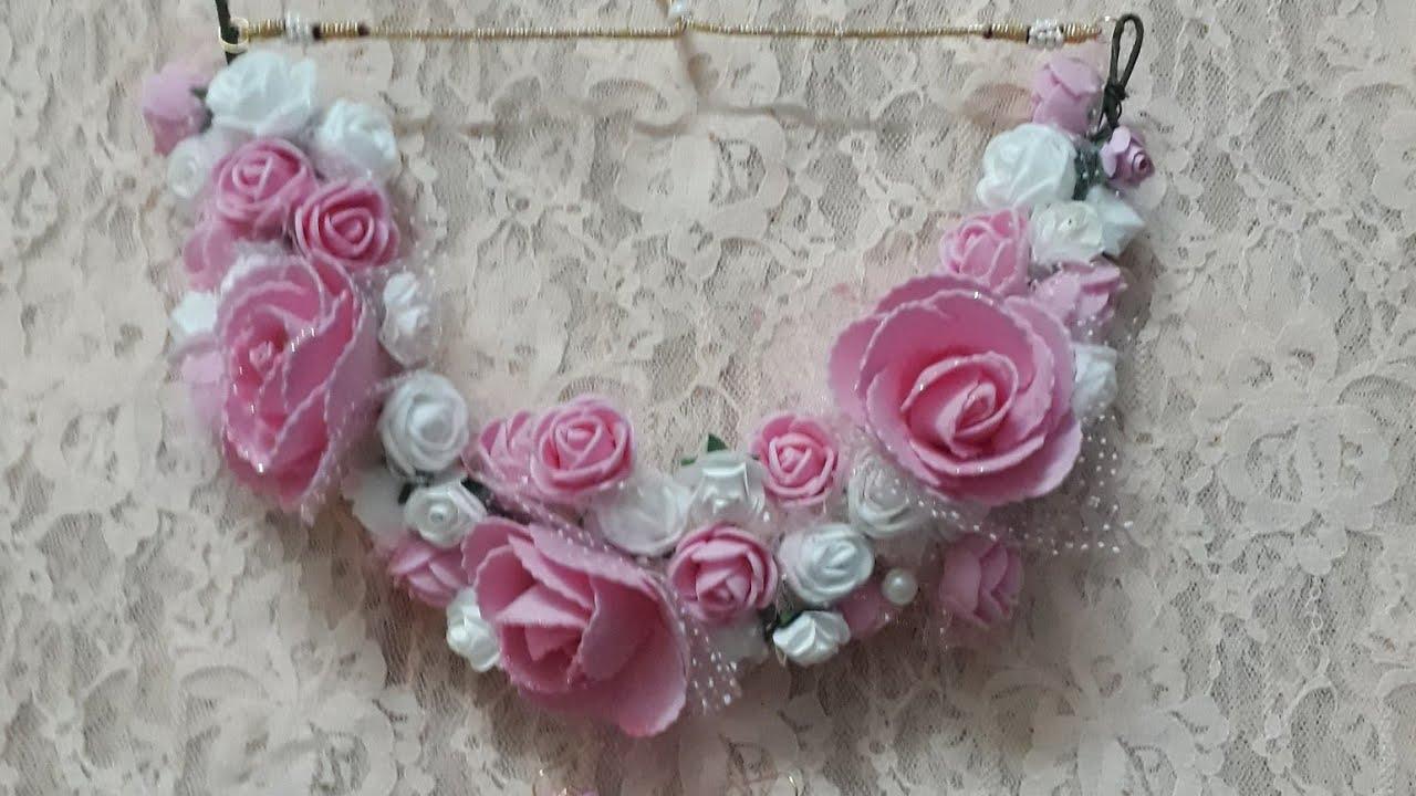 Diy How To Make Handmade Artificial Flowers Flower Jewellery 2018