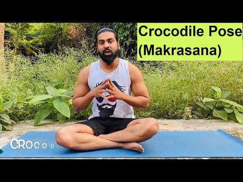 How to do Crocodile Pose (Makrasana) and Its Benefits | Indian Yoga With Krishna