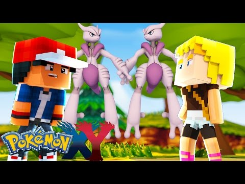 Minecraft: Pokemon X Y - MEGA MEWTWO VIROU NOSSO AMIGO #96