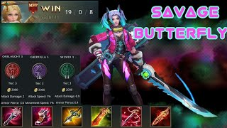Arena of valor-  Savage butterfly gameplay commentry
