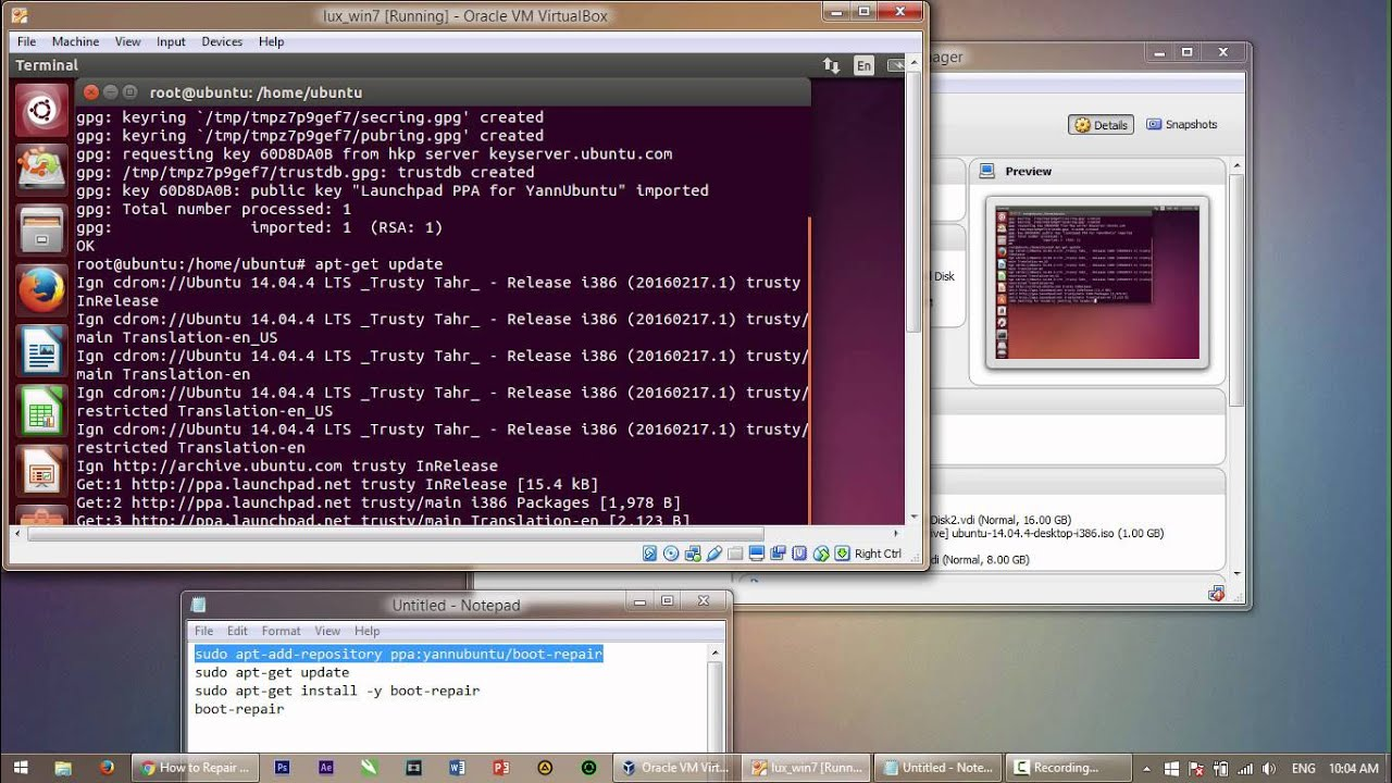 How to copy windows 7 image to another hard drive with ubuntu.