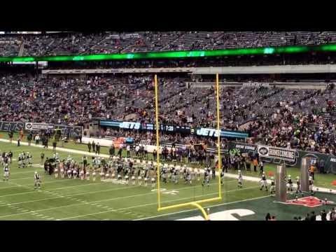 NY #Jets led on the field by #16 Vinny Testaverde