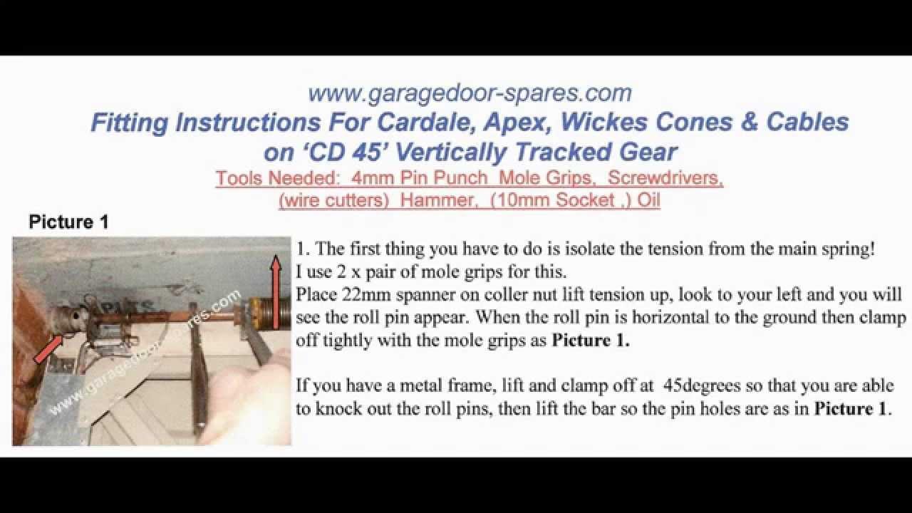 Cardale cd45 cones and cables repair garage door spares parts cardale cd45 cones and cables repair garage door spares parts repairs rubansaba