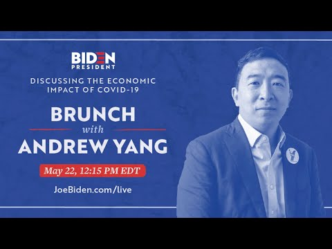 Discussing the Economic Impact of COVID-19 with Andrew Yang | Joe Biden For President