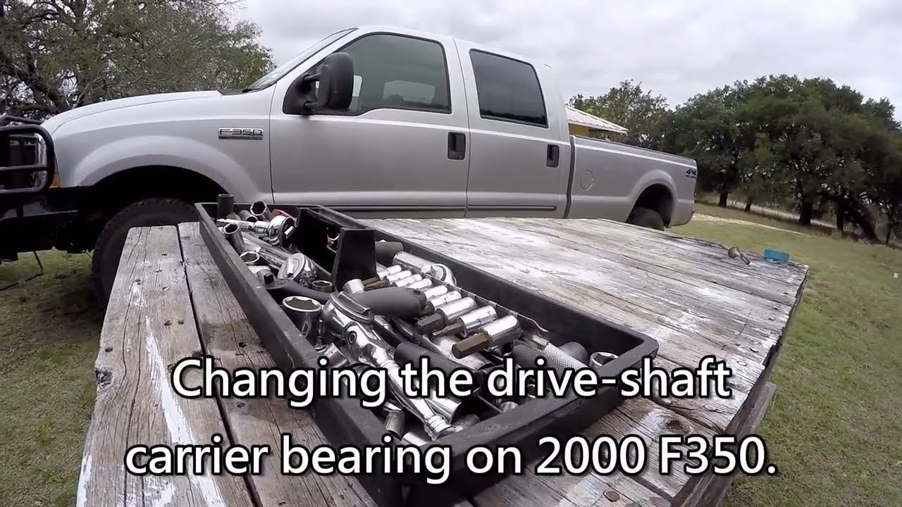 replacing drive shaft carrier bearing on 2000 f 350 [ 1280 x 720 Pixel ]