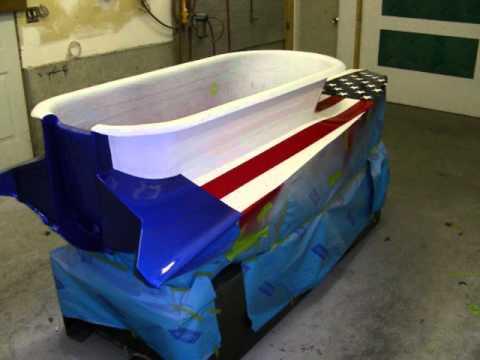 Custom Painted Bathtub Race Boat