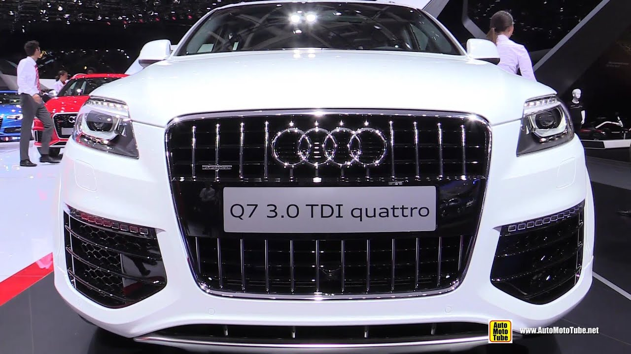 2015 Audi Q7 3.0 TDI Quattro   Exterior And Interior Walkaround   2014  Paris Auto Show   YouTube
