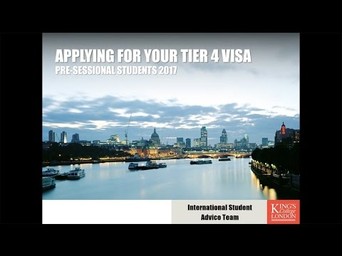Pre-sessional English students: applying for a Tier 4 visa (2017)