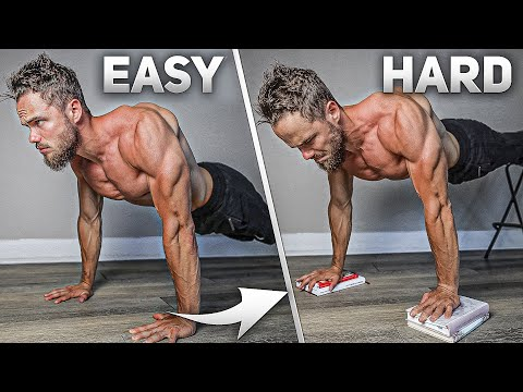 6 BEST Push Ups For BIG CHEST (From Easy to Hard)