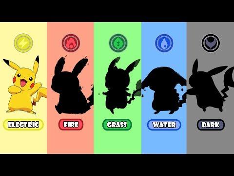 Requests #2  Pokemon Type Swap: Pikachu Fire, Water, Grass And Dark