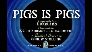Pigs is Pigs 1937 original - recreation titles