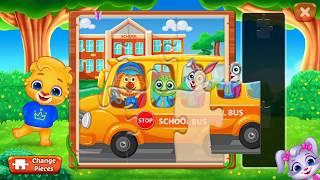 Собираем веселые пазлы в игре Puzzle kids уровень Jigsaw puzzle