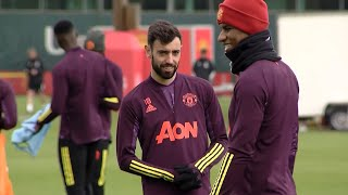 Man Utd Players Train Ahead Of Roma Europa League Semi-Final Clash
