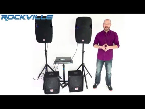 "Rockville SBG1128 and SBG1124 12"" 600 Watt Passive Pro DJ Subwoofer, MDF/Pole Mount"