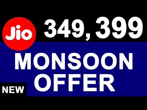 Breaking: JIO Monsoon OFFER Launched | 349, 399 JDDD New Plans | Free 4G Data Again For 3 Months