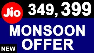 Breaking: JIO Monsoon OFFER Launched | 349, 399 JDDD New Plans | Free 4G Data Again For 3 Months thumbnail