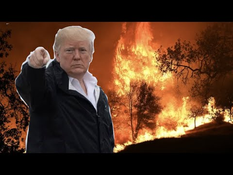President Trump blames California wildfires on .leaves and broken trees.., From YouTubeVideos