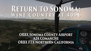 Return to ORBX Sonoma County Airport (with 4096 TML)  (P3D)