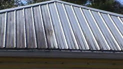 Metal roof cleaning with no pressure, no walk on. C. Bergman *Pressure Washing Too!
