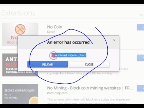 How to Fix Google Chrome Extension Download Interrupted Error