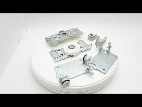 Комплект роликов (на одну дверь) с подшип. цинк для шкафов купе