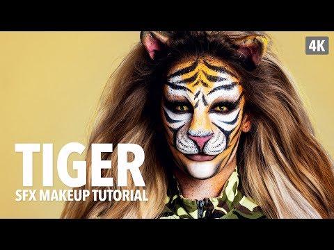Tiger special fx makeup tutorial