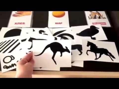 Воспитать Гения С Пеленок  - Методика Гленна Домана  - Черно-белые Картинки Для Малышей
