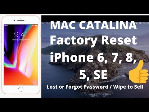 How To Factory Reset IPhone On Mac OS Catalina - Forgot Lost Password